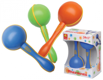 Mini Plastic Maracas Assorted Colors