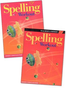 MCP Spelling Workout 2001 Homeschool Bundle A