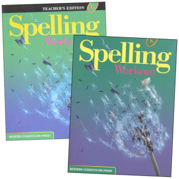 MCP Spelling Workout 2001 Homeschool Bundle E