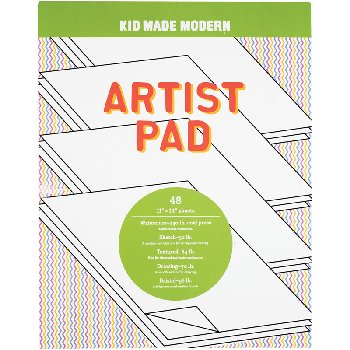 "Kid Made Modern Print Party Paper Pad (100 sheets, 9"" x 12"")"