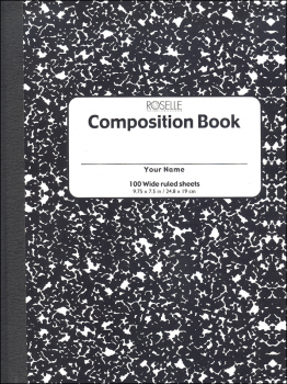 Composition Book - 100 sht, h/c, Wide ruled