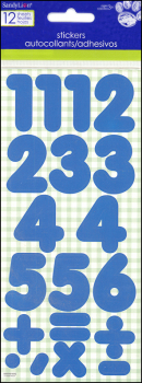 Number Stickers: Basic Blue 1""