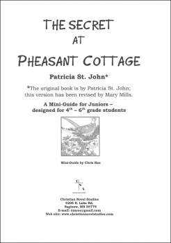 Secret at Pheasant Cottage Mini-Guide with Reproducible