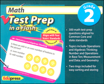 Math Test Prep in a Flash - Grade 2