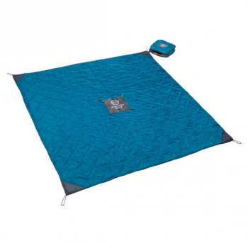 Quilted Monkey Mat - Blue