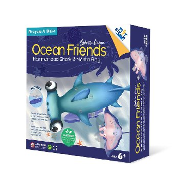 Ocean Friends Hammerhead Shark & Manta Ray (Love the Ocean)