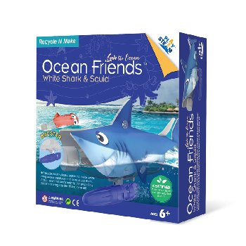Ocean Friends White Shark & Squid  (Love the Ocean)