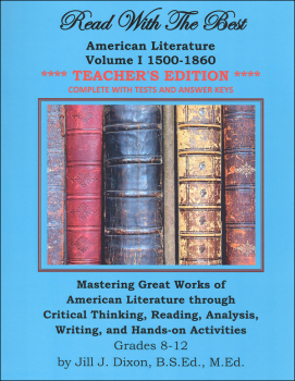Read With the Best - American Literature I: 1500-1860 Teacher's Edition