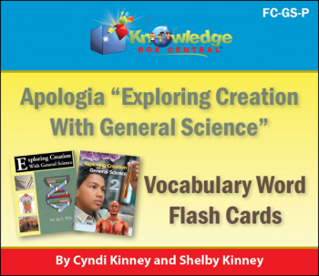 Apologia General Science Vocabulary Word Flashcards Printed (1st & 2nd Editions)
