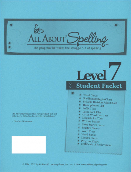 All About Spelling Level 7 Student Packet