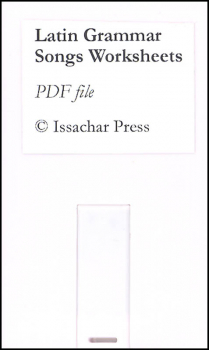 Latin Grammar Songs Worksheets PDF on Flash Drive
