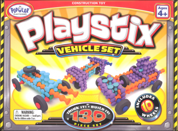 Playstix Construction Toy -  Vehicles 130 Piece set