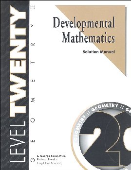 Developmental Math Level 20 Solution Manual