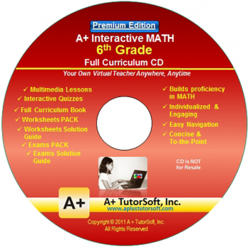 6th Grade MATH Full Curriculum Software CD - Premium Edition