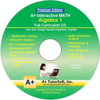Algebra 1 Full Curriculum Software CD - Premium Edition