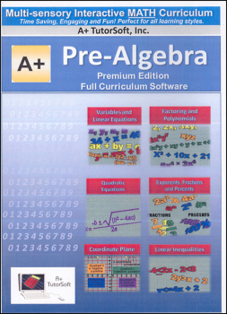 Pre-Algebra Full Curriculum Software CD - Premium Edition