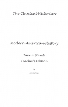 Take a Stand! Modern American History Teacher's Key