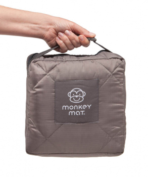 Quilted Monkey Mat - Gray Groove
