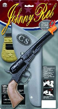 Johnny Reb Solid Die-Cast Metal Pistol & Holster Set