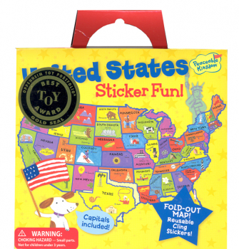 United States Map Reusable Sticker Tote