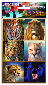 Big Cats 3D Stickers
