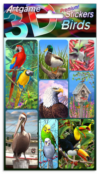 Birds 3D Stickers