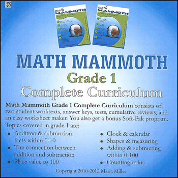 Math Mammoth Light Blue Series Grade 1 CD