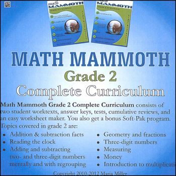 Math Mammoth Light Blue Series Grade 2 CD