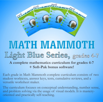 Math Mammoth Light Blue Series Grades 4-7 CD