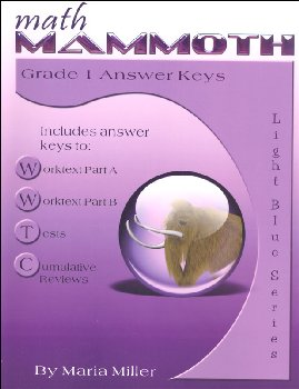 Math Mammoth Light Blue Series Grade 1 Answer Key