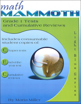 Math Mammoth Light Blue Series Grade 1 Tests & Reviews