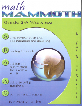 Math Mammoth Light Blue Series Grade 2-A Worktext