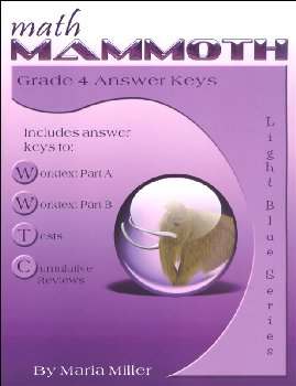 Math Mammoth Light Blue Series Grade 4 Answer Key