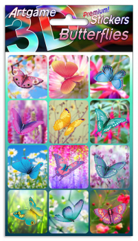 Butterflies 3D Stickers