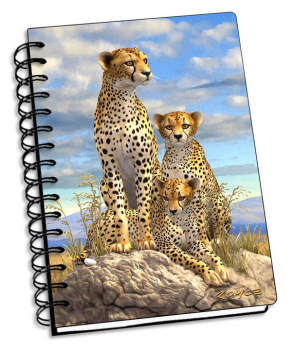 "Cheetahs 3D Notebook 4"" x 6"""