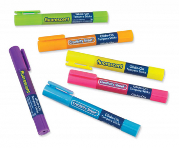 Glide-On Tempera Sticks - Fluorescent Colors (package of 6)