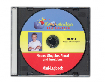 Nouns- Singular, Plural, & Irregulars Mini-Lapbook CD