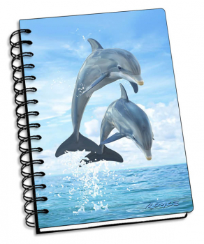 "Dolphin Jumpers 3D Notebook 4"" x 6"""