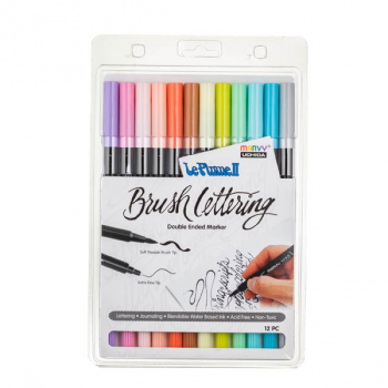 LePlume II Brush Lettering Pastel Set - Pack of 12