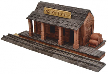Train Station (Ghost Town) 320 Piece Mini Bricks Construction Set
