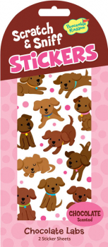 Chocolate Lab Scratch & Sniff Stickers