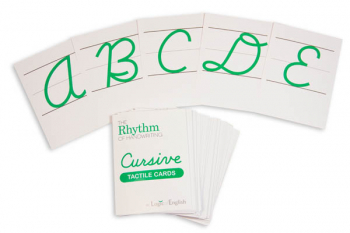 Rhythm of Handwriting Cursive Tactile Cards