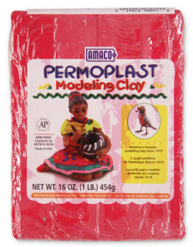 Permoplast Modeling Clay Red 4-Stick 1 lb.