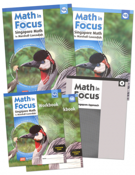 Math in Focus Homeschool Pkg w/ Ans Key Gr 4