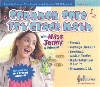 Common Core 1st Grade Math with Miss Jenny CD