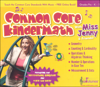Common Core KinderMath with Miss Jenny CD
