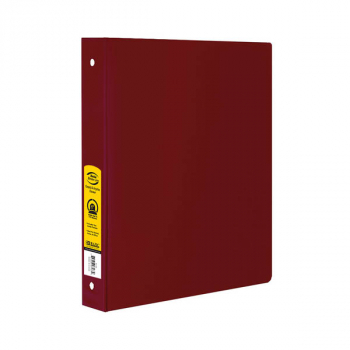 "Binder - 3-Ring 1"" wide with Pockets (Burgundy)"