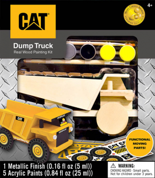 CAT Dump Truck Wood Painting Kit
