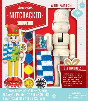 Nutcracker Elf Wood Painting Kit