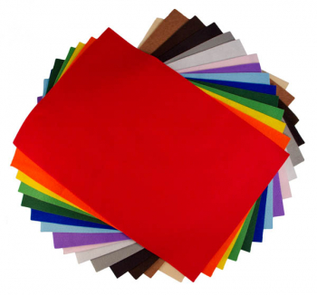 "Basic Colors Felt Assortment (9"" x 12"") -15 sheets"